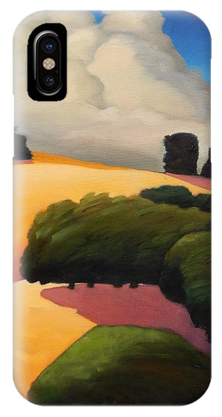 Windy Hill Triptych Revisit Panel Three IPhone Case
