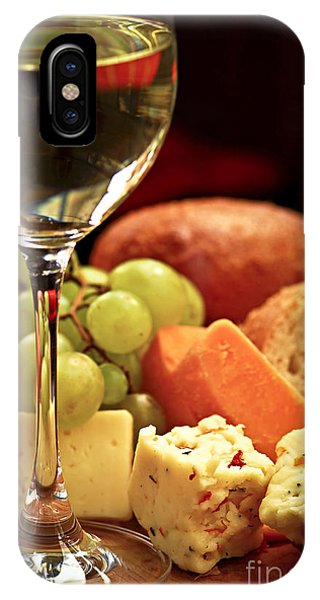 Green Grape iPhone Case - Wine And Cheese by Elena Elisseeva
