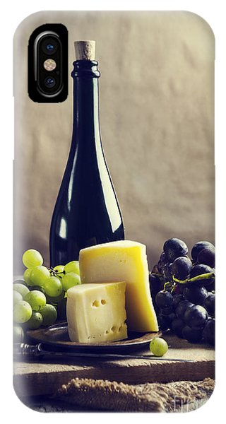 Wine Pouring iPhone Case - Wine And Cheese by Jelena Jovanovic