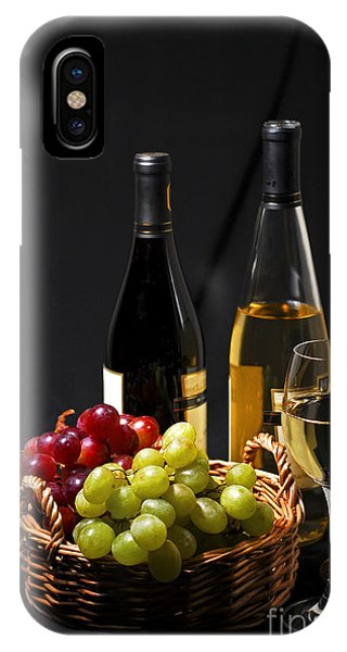 Green Grape iPhone Case - Wine And Grapes by Elena Elisseeva