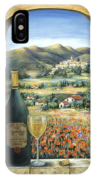 Provence iPhone Case - Wine And Poppies by Marilyn Dunlap