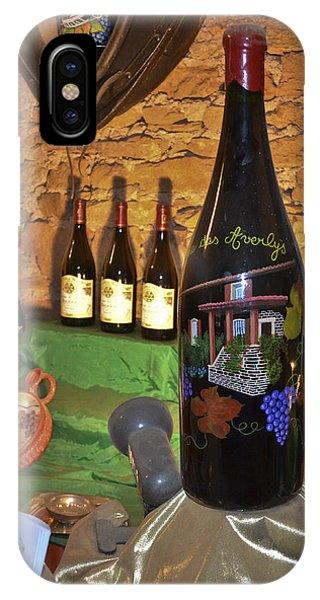 Wine Bottle On Display IPhone Case