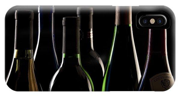 Vino iPhone Case - Wine Bottles by Tom Mc Nemar