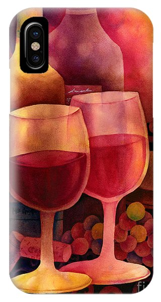 Table For Two iPhone Case - Wine For Two by Hailey E Herrera