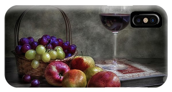 Wine, Fruit And Reading. Phone Case by Fran Osuna