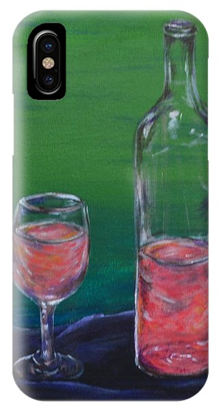 Wine Glass And Bottle IPhone Case