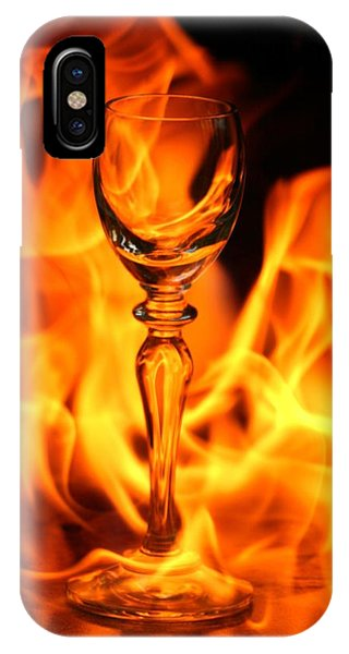 Wine Glass On Fire IPhone Case