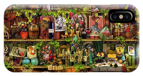 Shelves iPhone Case - Wine Shelf by MGL Meiklejohn Graphics Licensing