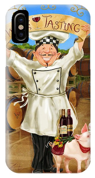 Wine Tasting Chef IPhone Case