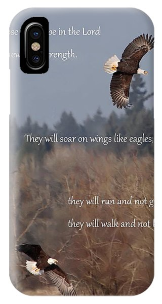 Wings Like Eagles IPhone Case