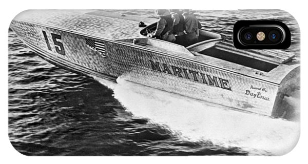 Powerboat iPhone Case - Winner Of The 180 Mile West Palm Beach To Lucaya-freeport Gatewa by Underwood Archives