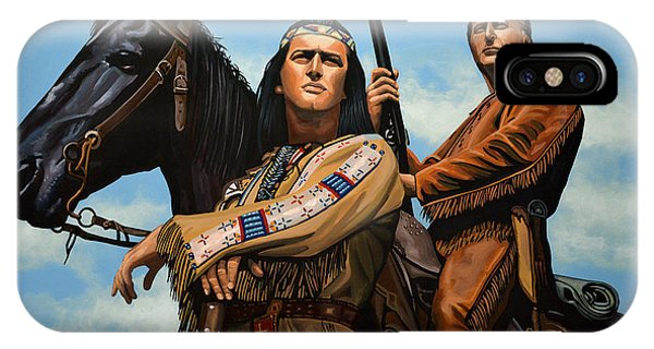 Death Valley iPhone Case - Winnetou And Old Shatterhand by Paul Meijering