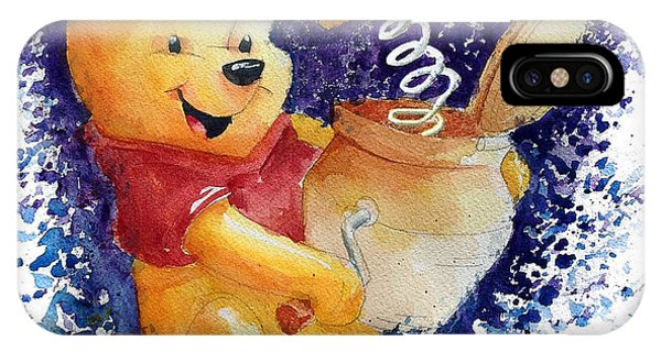 The iPhone X Case - Winnie The Pooh And Honey Pot by Andrew Fling