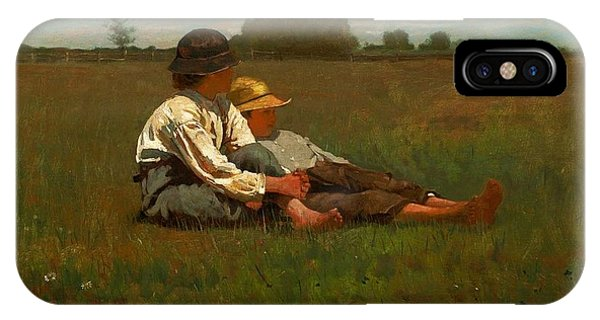 Homer iPhone Case - Winslow Homer Boys In A Pasture by Winslow Homer