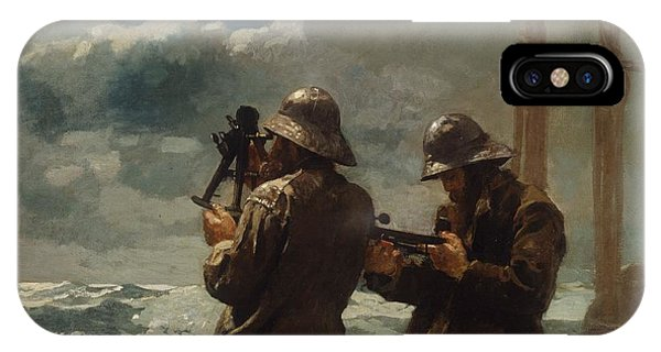 iPhone Case - Winslow Homer Eight Bells by Winslow Homer
