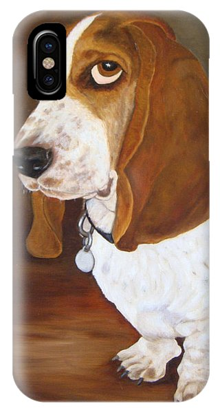 IPhone Case featuring the painting Winston by Karen Zuk Rosenblatt