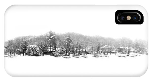 Winter And Fog At The Lake IPhone Case