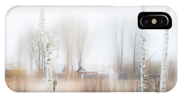 Russian Impressionism iPhone Case - Winter Aquarel. Russia by Jenny Rainbow