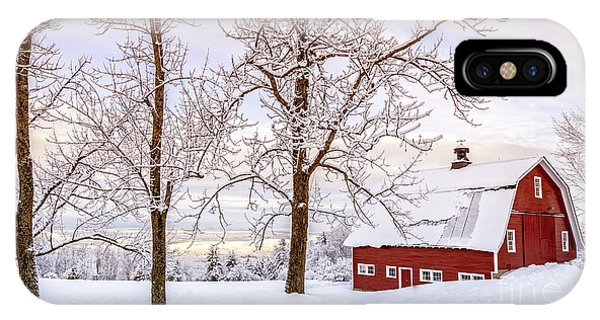 Scenic New England iPhone Case - Winter Arrives by Edward Fielding