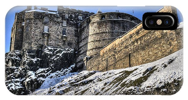 Winter At Edinburgh Castle IPhone Case