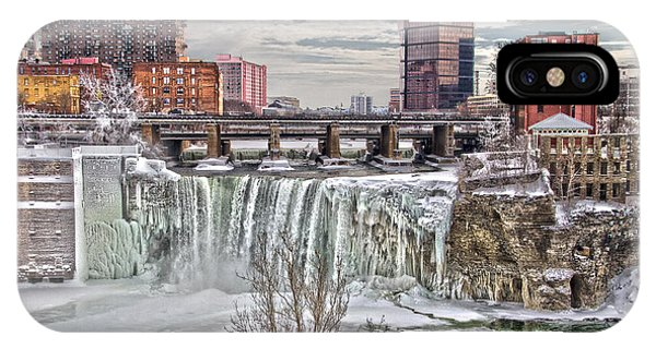 IPhone Case featuring the photograph Winter At High Falls by William Norton
