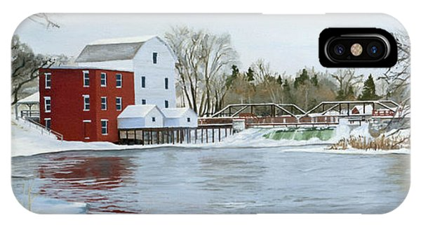 Winter At Phelps Mill IPhone Case