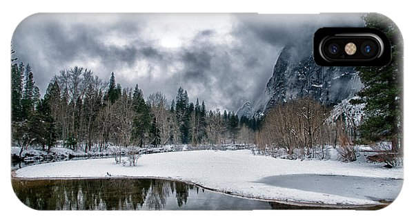 Winter At Swinging Bridge IPhone Case