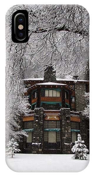 Winter At The Ahwahnee In Yosemite IPhone Case