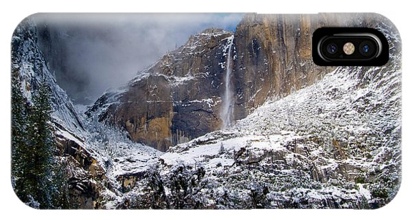 Winter At Yosemite Falls IPhone Case