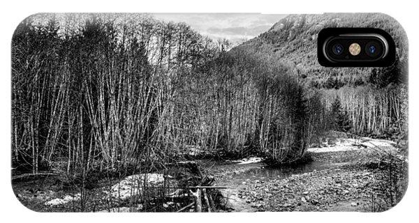 Winter Backroads Englishman River IPhone Case