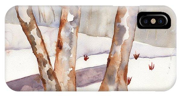 Winter Birch IPhone Case