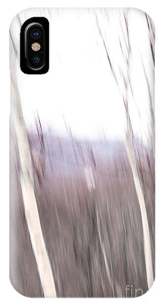 Winter Birches Tryptich 3 IPhone Case