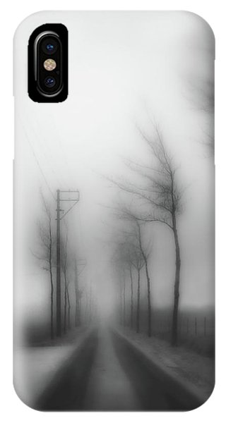 Fog iPhone Case - Winter Blues by Yvette Depaepe