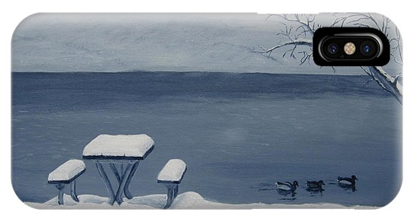 Winter By The Lake IPhone Case