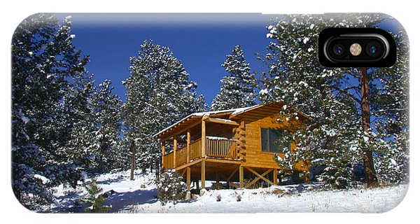 Winter Cabin IPhone Case