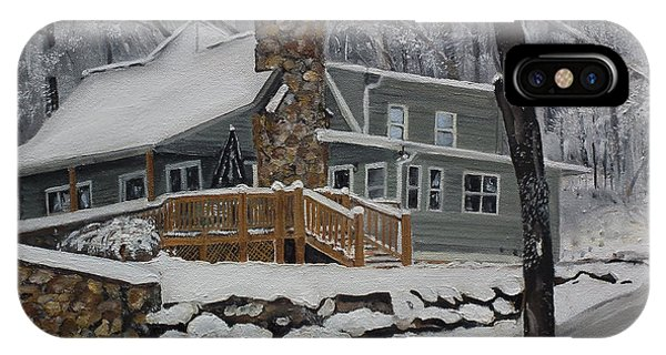 Winter - Cabin - In The Woods IPhone Case