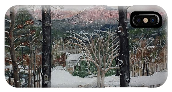 Winter - Cabin - Pink Knob IPhone Case