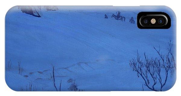 Winter Camp In Blue IPhone Case