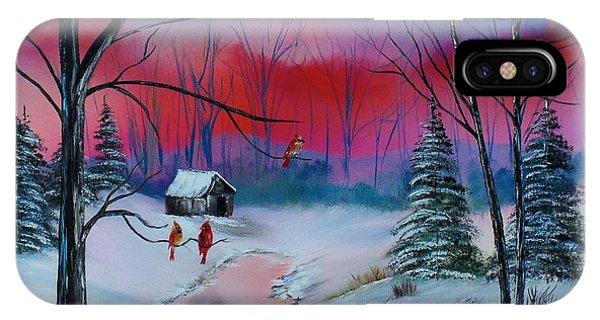 Winter Cardinals IPhone Case