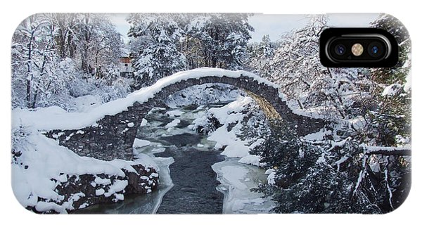Winter - Carrbridge - Scotland IPhone Case