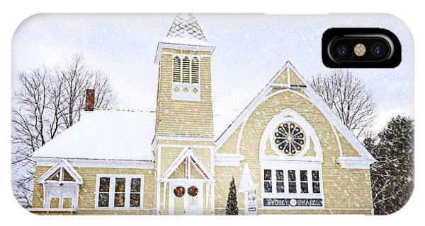 Winter Chapel IPhone Case