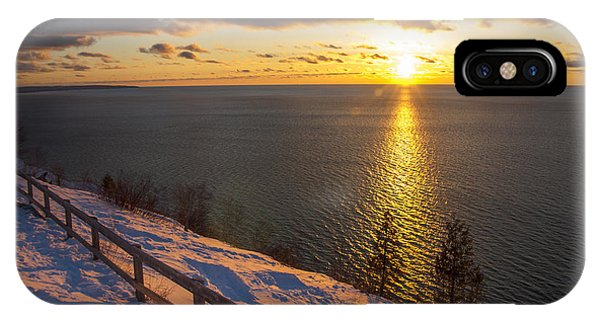Winter Cliffs On Lake Michigan IPhone Case