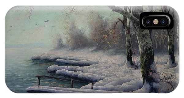 Winter Coming On The Riverside IPhone Case