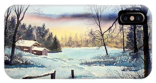 Winter Cottage IPhone Case