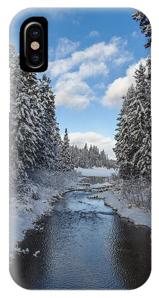 IPhone Case featuring the photograph Winter Creek by Fran Riley