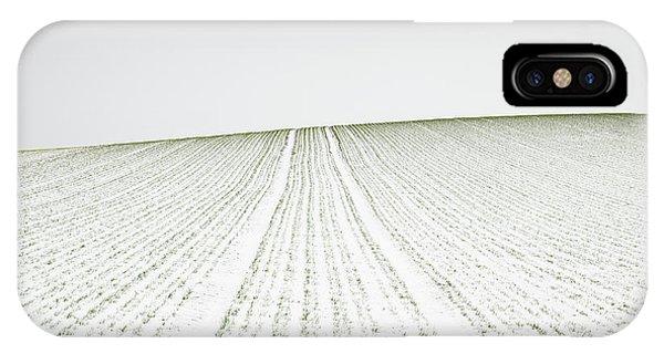 Simple Landscape iPhone Case - Winter Crop by Martin Rak