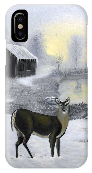 Winter Doe IPhone Case