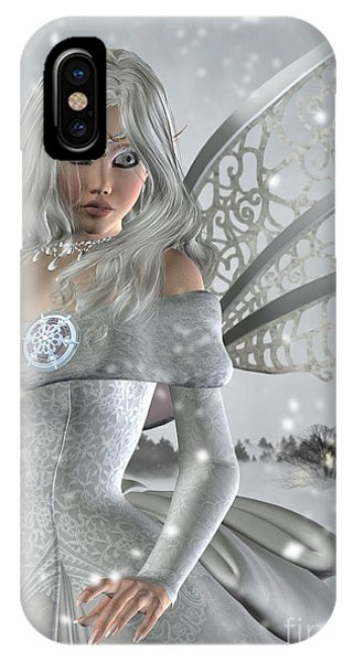 Winter Fairy In The Snow IPhone Case