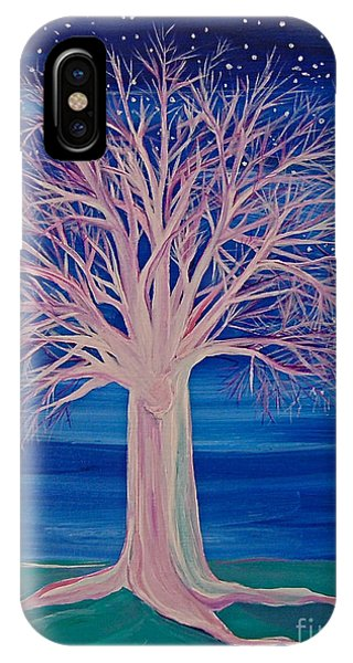 Winter Fantasy Tree IPhone Case