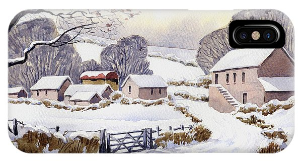 iPhone Case - Winter Farm by Anthony Forster